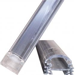 Perfil barra de aluminio 20x12.50mm de un metro