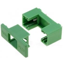 Portafusibles de circuito impreso 5x20mm Verde