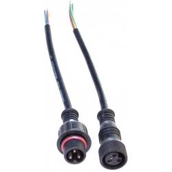 Juego Conector IP65 Negro 3pin