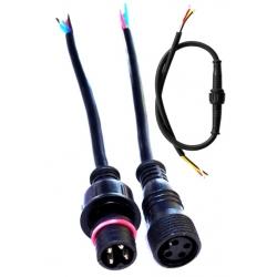 Juego Conector IP65 Negro 5pin con cable