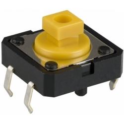 Pulsador Tact Switch de 12x12mm THT Omron