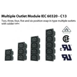 Base enchufe de luz IEC-60320-C13 Hembra