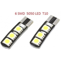 Bombilla LED T10 Canbus 6 Led 5050 SMD 12v