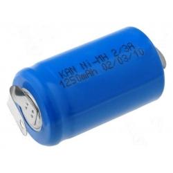 Batería NI-MH Recargable 2/3 AA 1.25 1.2v.con lengueta