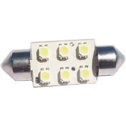 Bombilla LED Festoon 3610 6led SMD