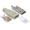 Conector USB A-Macho Aereo 4 pin