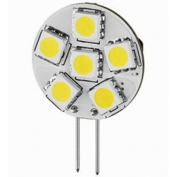 Led G4 6 led SMD 5050 26mm Blanco Cálido