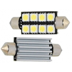 Festoon Canbus 8 LED 5050 SMD 42mm