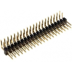 Tira doble 20 Pin macho 2mm acodado