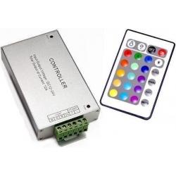 Conjunto Receptor Mando 24 teclas para RGB 12-24v.dc