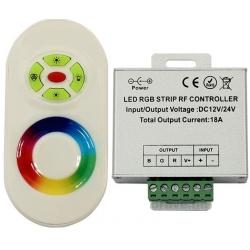 Dimmer PWM para Led RGB Mando Touch RF Blanco