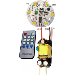 Set Driver 6 Led monocolor GU10-E27